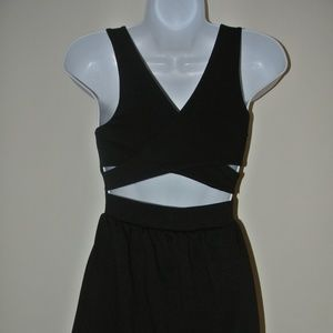 Black Dress with Cross Back